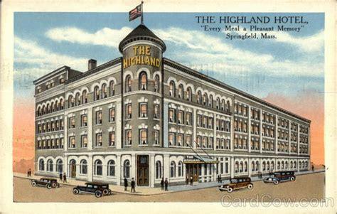 the x room springfield ma the highland hotel springfield ma postcard