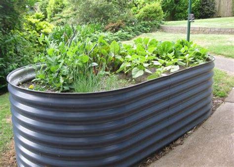 raised vegetable garden beds corrugated iron hawe park
