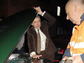 actor who looks like mr bean rowan atkinson has a mr bean break down uk news