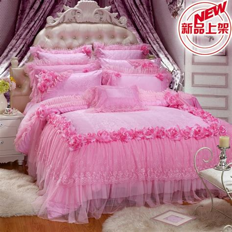 romantic bedspreads comforters aliexpress com buy new quality satin romantic lace