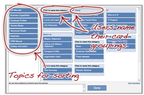card sort template 4x2 how to guide for intranet card sorting thoughtfarmer