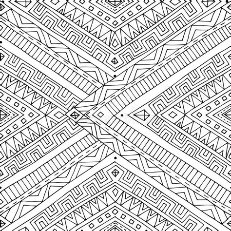 doodle pattern black and white seamless asian ethnic doodle black white pattern stock
