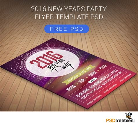 flyer template psd 2016 new years flyer free psd psdfreebies