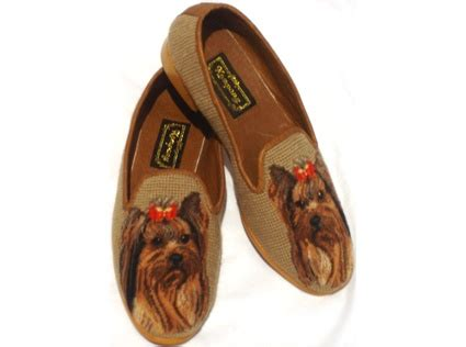 yorkie shoes yorkie needlepoint shoes pets