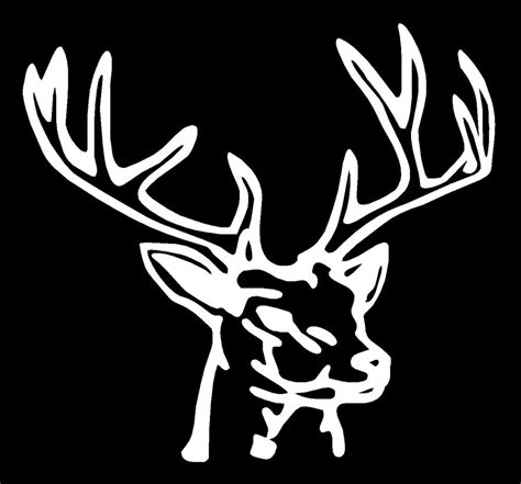 hunting decals car window stickers decal junky deer head hunting fishing rack horns whitetail truck