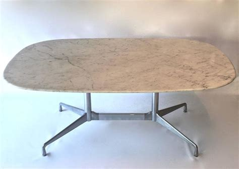 Marble Conference Table Eames For Herman Miller White Marble Dining Conference Table At 1stdibs