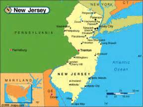 united states map new jersey new jersey map