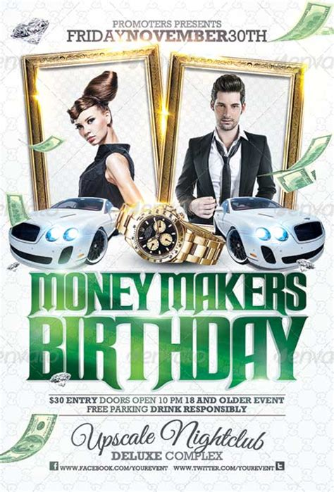 Club Sessions Money Makers Party Flyer Money Flyer Template