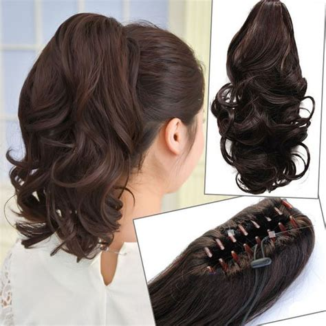 how to do ponytail with short layers details about uk fast shipping short wavy curly hair