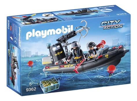 rubberboot action playmobil city action 9362 sie rubberboot dreamland