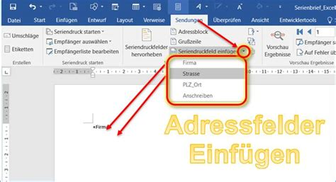 Word Vorlage Adressfeld word anleitung serienbriefe erstellen mit adressen aus excel codedocu de office 365