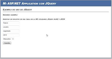 tutorial jquery ajax json tutorial de asp net jquery ajax json y linq insertar