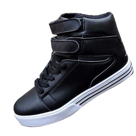 s casual high top shoes breathable board sneakers