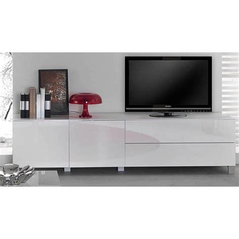 Meuble Tv Blanc Laqué Pas Cher by Interior Attractive Meuble Tv Blanc Pas Cher 3 Design
