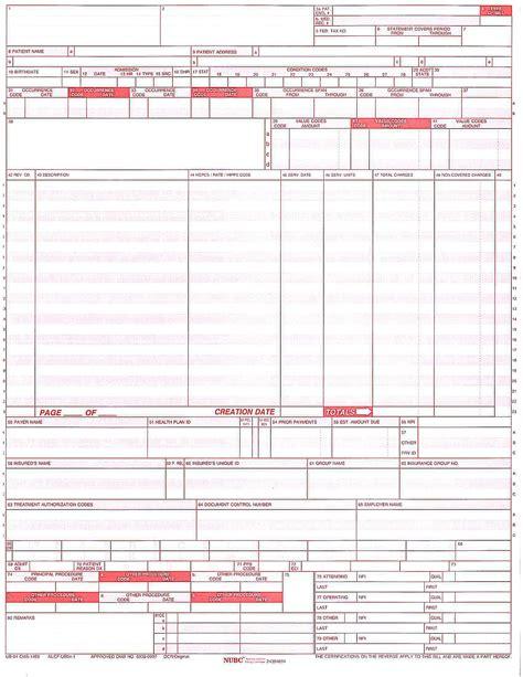 overview   ub  billing claim form