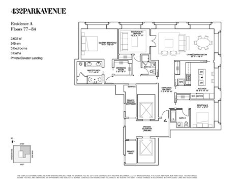 new york floor plans 432 park avenue floor plans new york usa