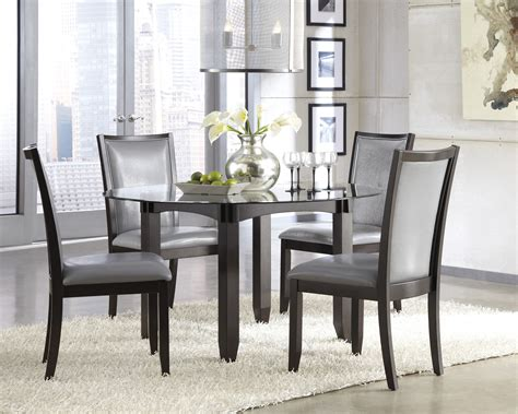 issa white high gloss dining table 4 leona z chairs dt