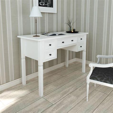 weisse schreibtische biurko białe z 5 szufladami sklep internetowy vidaxl pl