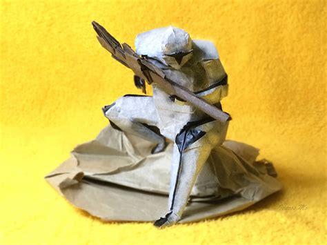 Origami Clone Trooper - wars origami episode ii clones droids yoda and more