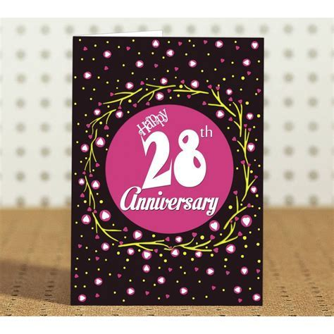 28th Wedding Anniversary Gift for Parents, Father, Mother