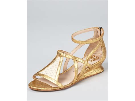 house of harlow sandals house of harlow 1960 sandals casmine demi wedge in gold