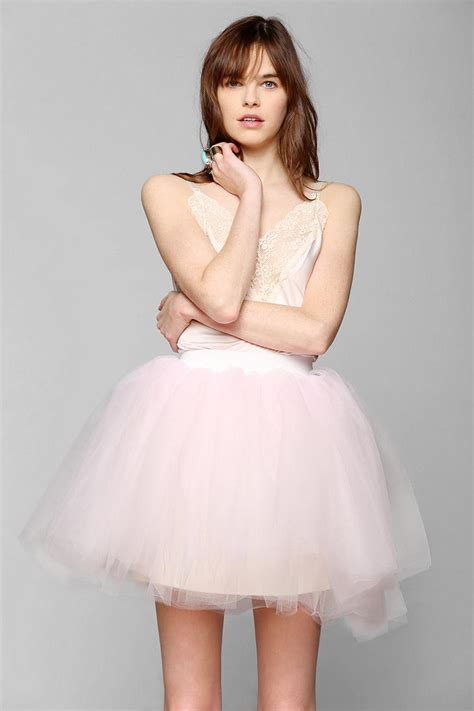 Dress Slid Pink lyst outfitters renewal tulle slip dress in pink