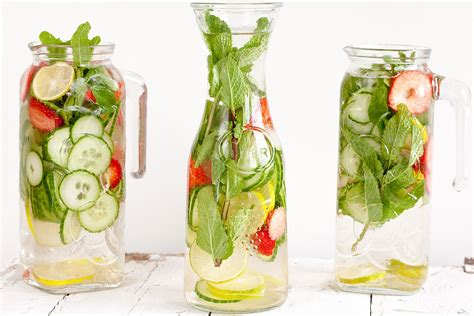 Strawberry Lemon Lime Mint Detox Water by Strawberry Lime Cucumber And Mint Water Ohmydish