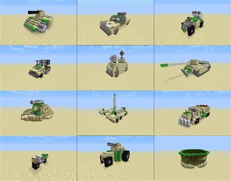 minecraft army truck desert army vehicles minecraft project