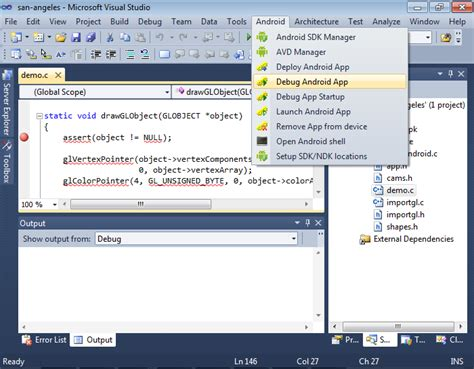 tutorial visual studio android app debugging vs android projects with visualgdb visualgdb