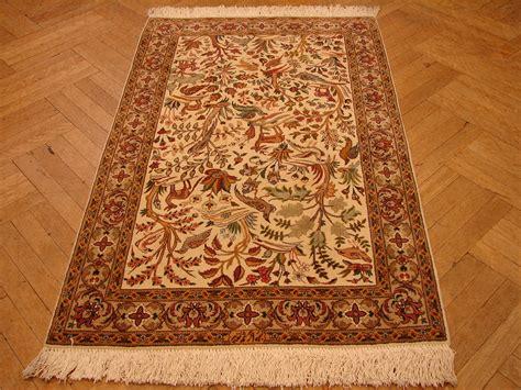 wildlife area rugs 3x5 wildlife rug tabriz rug trees birds deers 400 kpsi ebay