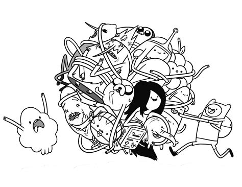 Adventure Time Coloring Pages3 Free Printables Maze Jake And The Coloring Pages