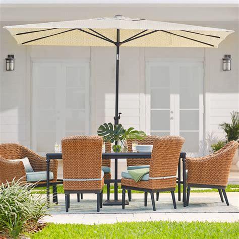 rectangle patio umbrellas patio umbrellas the home depot