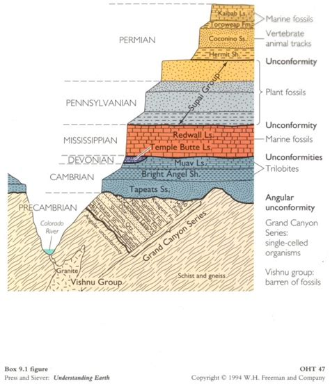 cross section geology geologic dating time diagrams