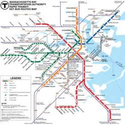 Map Of Boston T by Metro S Subways And Underground Transport Maps Boston Mbta