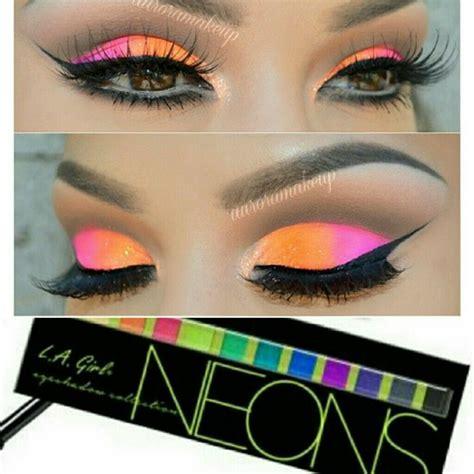New La Brick Eyeshadow neons 12 color eye plallet brush neons l a brick eyeshadow eyeshadow palette
