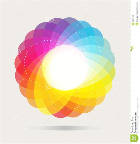 color spectrum wheel color wheel background stock vector image 53647953
