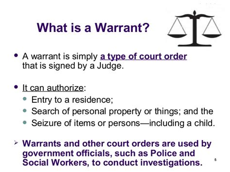 What Is Needed To Obtain A Search Warrant Warrant For New Social Workers