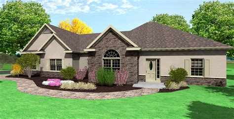 ranch home plans with side entry garage cottage house plans