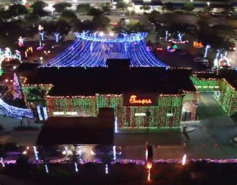 fil a waters christmas lights check out this fil a that went all out for christmas
