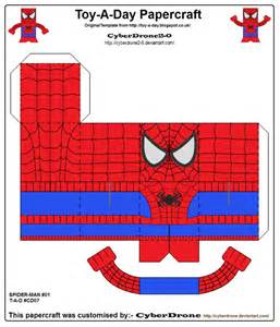 toy a day cd07 spider man papercraft by cyberdrone2 0 on