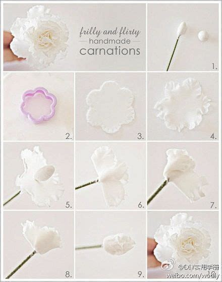 rice paper flower tutorial diy frilly handmade carnations glasses paper and rice