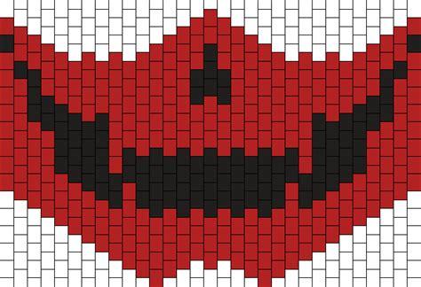 black and white kandi mask pattern red skull mask kandi pattern rave pinterest kandi