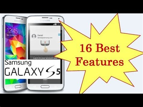 best features of galaxy s5 16 best features of samsung galaxy s5 in 5 minutes