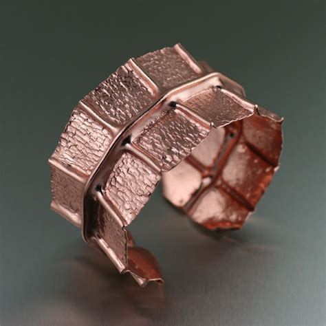 Handmade Copper - review patterned copper cuff bracelet by