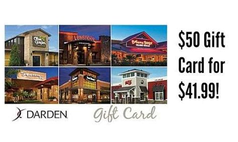 Dardens Gift Cards - staples deal 50 darden restaurant gift card 41 99 southern savers