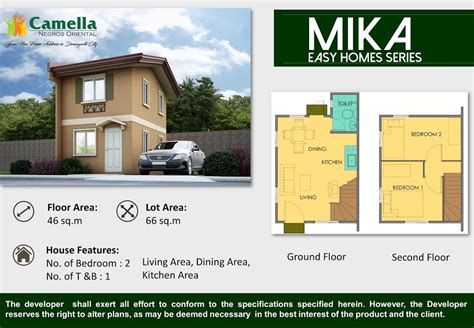 camella homes design with floor plan 2bedrooms house for sale single attached camella homes