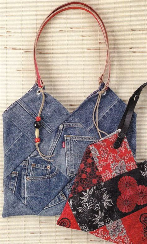 recycled tote bag pattern pattern recycled denim jeans purse or bag by indygo