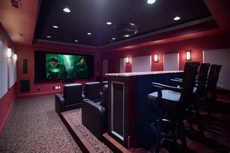 media room and home theater traditional home theater dc metro by rule4 building