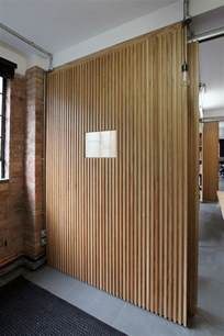 floor to ceiling oak veneer room dividers with partition