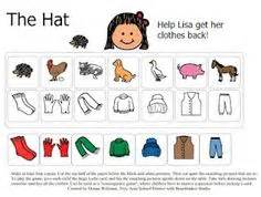Matching game board for quot the hat quot by jan brett more
